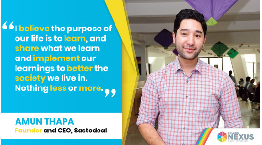 Interview with Amun Thapa, Founder and CEO of Sastodeal