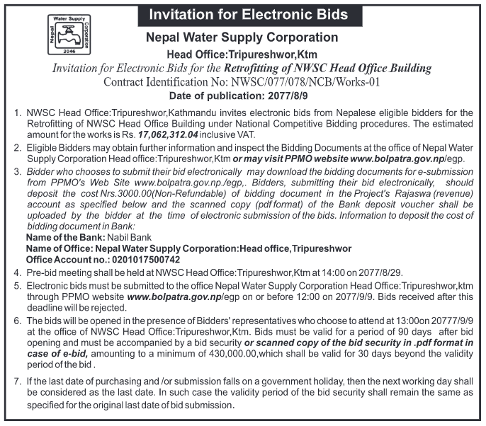 Invitation for electronic bids